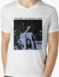 JEFF BUCKLEY RAW POWER CAN DESTROY A MAN T SHIRT iggy pop Mens V-Neck T-Shirt