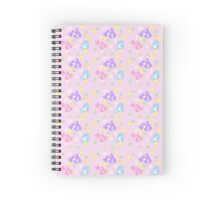 Fairy Kei Orca Trio Pattern Spiral Notebook