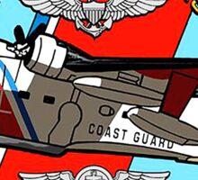 United States Coast Guard HU-16E Albatross Grumman Plane USCG Sticker