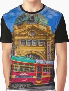 The City Circle Tram at Flinders Street Station Graphic T-Shirt