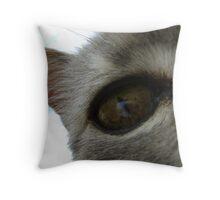 in a cat's eye Throw Pillow