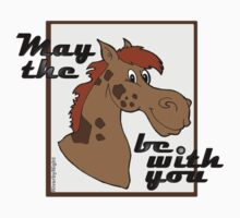 May The Horse Be With You v.3 Baby Tee