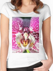 Pink-Spotted Orchid Women's Fitted Scoop T-Shirt