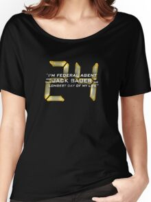24 Jack Bauer Longest Day (V.3) Women's Relaxed Fit T-Shirt