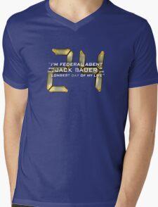 24 Jack Bauer Longest Day (V.3) Mens V-Neck T-Shirt