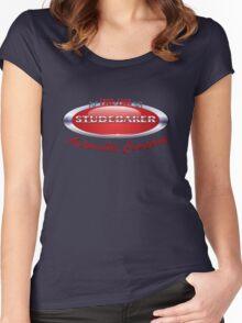 Studebaker  badge T Shirt  Women's Fitted Scoop T-Shirt