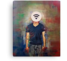 Wifi-Head / 21st Century Identity (What's your wifi password) Canvas Print