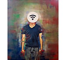 Wifi-Head / 21st Century Identity (What's your wifi password) Photographic Print
