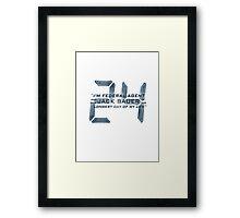 24 Jack Bauer Longest Day (Blue) Framed Print