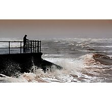 The Old Man and the Raging Sea Photographic Print