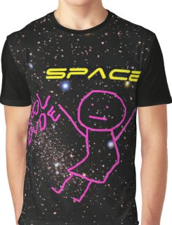 Cool Dude (space background) Graphic T-Shirt