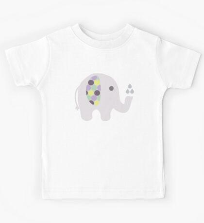 Elephant with Polka-Dot Ear Kids Tee