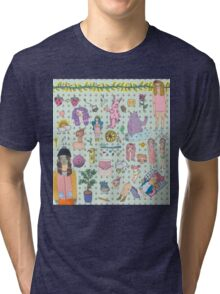 I love colourful animal erasers  Tri-blend T-Shirt