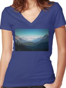 Valley, Banff National Park - Canadian Rockies - Alberta Women's Fitted V-Neck T-Shirt