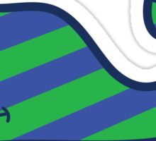 Vineyard Vines Blue and Green Whale Sticker