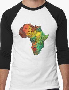 africa Men's Baseball ¾ T-Shirt