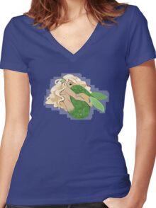 Shy Mermaid Women's Fitted V-Neck T-Shirt