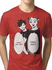 Haikyuu: Bokuto And Kuro OHO HO HO Tri-blend T-Shirt
