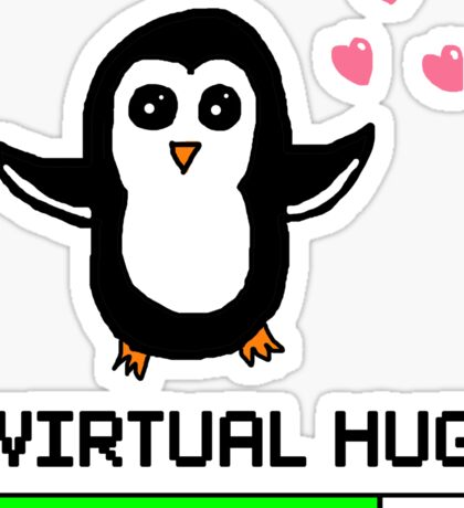 Virtual Hug Loading Sticker