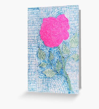 Pen and Ink Vibrant Rose Greeting Card