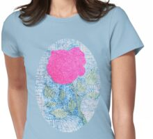 Pen and Ink Vibrant Rose Womens Fitted T-Shirt