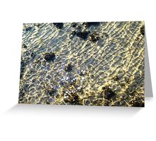 """""""Water Patterns"""" - The Beauty Of An Unspoilt Island Greeting Card"""