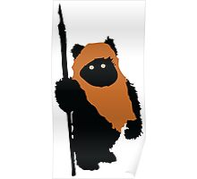 Ewok Bear, Star Wars Poster