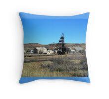 Campbell Mine Header - Bisbee Arizona Throw Pillow