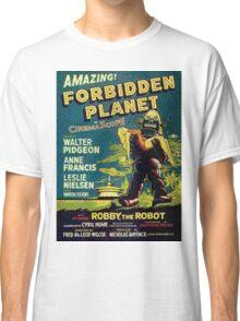 Vintage Sci-fi Movie Forbidden Planet, Robot Classic T-Shirt
