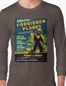 Vintage Sci-fi Movie Forbidden Planet, Robot Long Sleeve T-Shirt