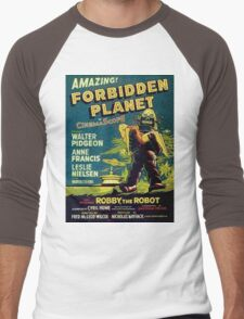 Vintage Sci-fi Movie Forbidden Planet, Robot Men's Baseball ¾ T-Shirt