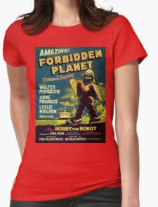 Vintage Sci-fi Movie Forbidden Planet, Robot Womens Fitted T-Shirt