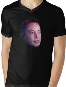 Low Poly Hero: Elon Musk – Shirts & Hoodies Mens V-Neck T-Shirt