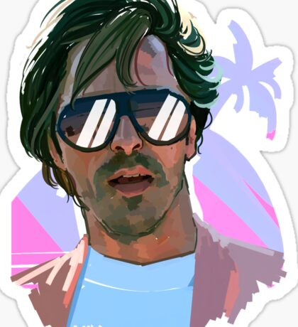sonny crockett Sticker