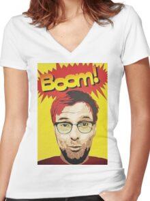 BOOM!!! Jurgen Klopp Women's Fitted V-Neck T-Shirt