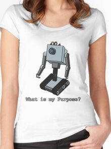 What is my Purpose? Women's Fitted Scoop T-Shirt