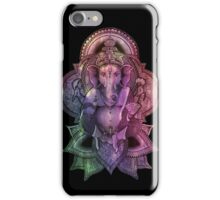 Ganesha Color - black iPhone Case/Skin