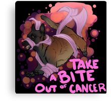 Take A Bite Out of Cancer - V2 Canvas Print