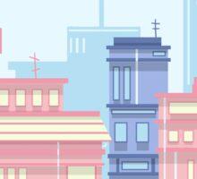 Colorful Cityscape Sticker