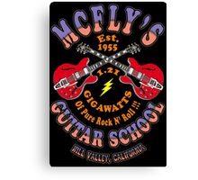 McFly's Guitar School Colour 2 Canvas Print