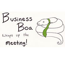 Business Boa Photographic Print