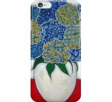 """Ortensie Blu"" Blue Hydrangeas iPhone Case/Skin"
