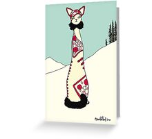 Lulu, Art Deco Cat Greeting Card