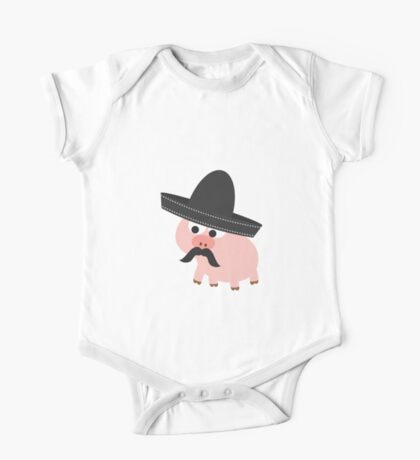 Cerdito Bandito Pig One Piece - Short Sleeve