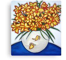 """""""Mazzo di Narccisi"""" Bouquet Of Daffodils Canvas Print"""