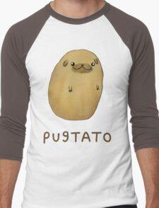 pug tato Men's Baseball ¾ T-Shirt