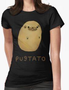pug tato Womens Fitted T-Shirt