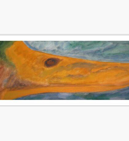 Mallard Duck Watercolor Painting Sticker