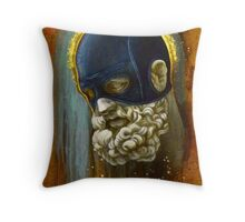 """Masked Hercules"" Throw Pillow"