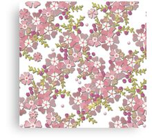 Floral texture with imitation glass Canvas Print